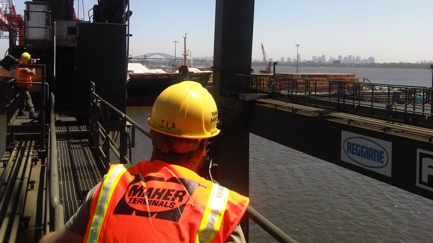 Reel power - filming cable reels on STS cranes at Maher Terminals in Newark NJ #Cavotecfilm