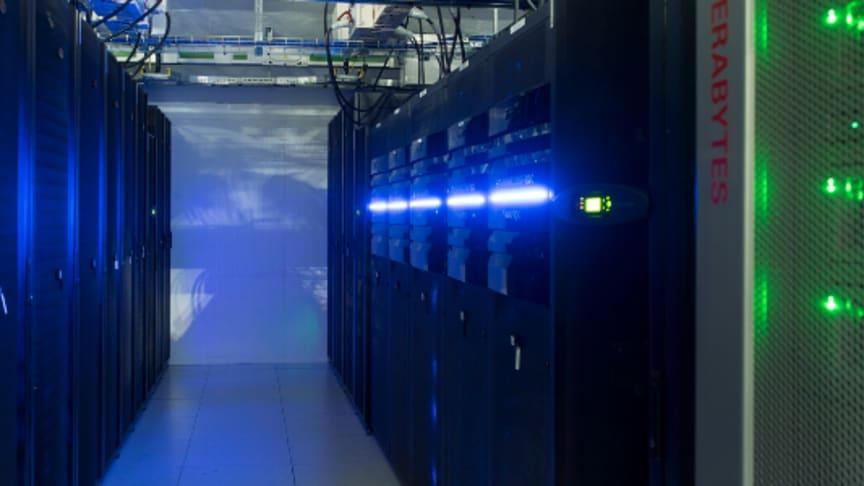 From inside the DC1-Stavanger Data Center Facility.