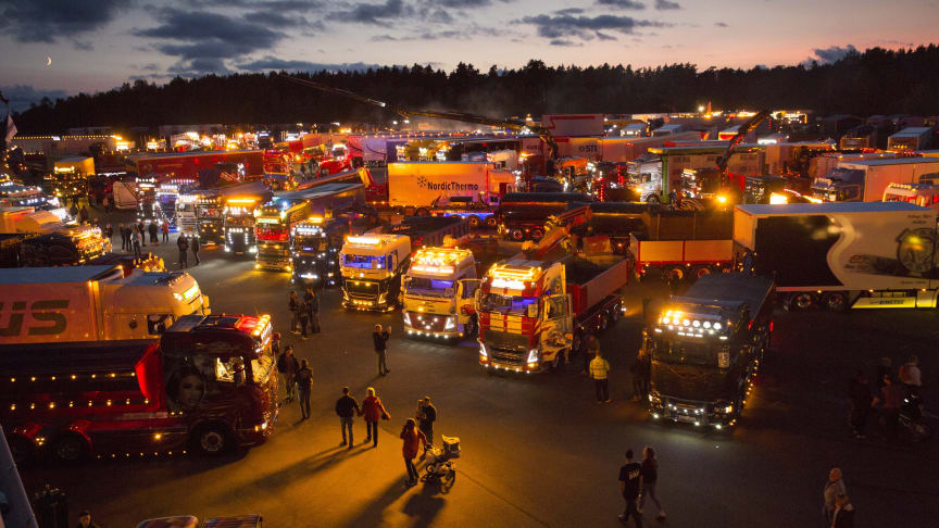 Ljusshow på Nordic Trophy området. Foto: Joachim Cruus.