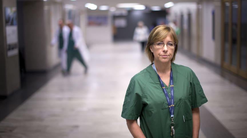 Karin Båtelson, förste vice ordförande Sveriges läkarförbund och ordförande Sjukhusläkarna