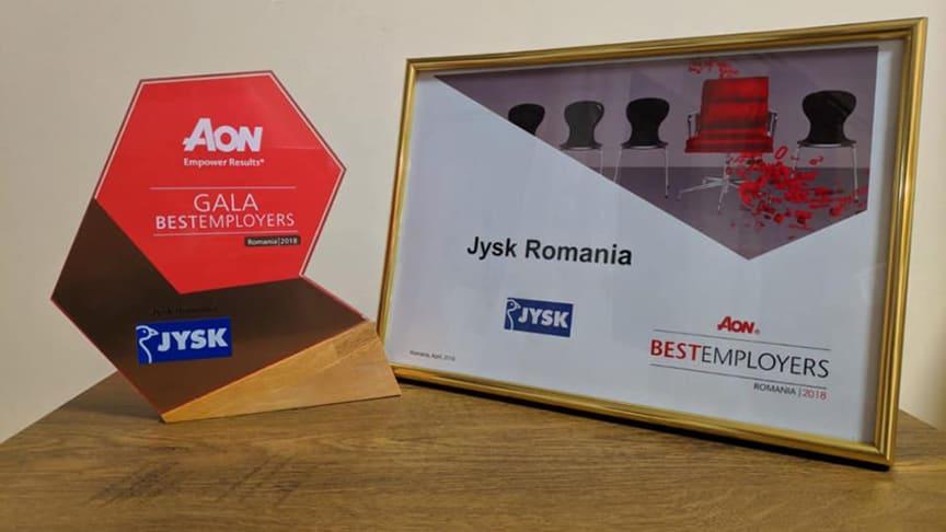JYSK România câștigă premiul AON Best Employers 2018
