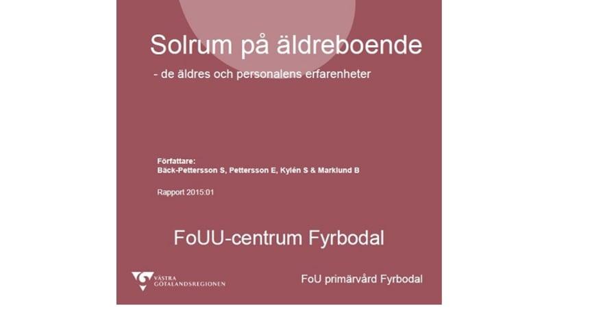 PRESSINBJUDAN: Presentation av forskningsrapport -Solrum på äldreboende