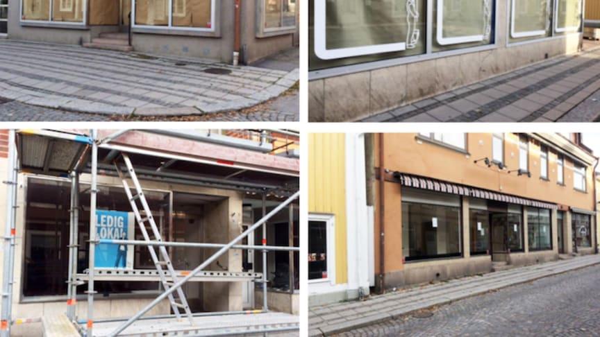 Tomma skyltfönster i Lindesberg kommer nu att fyllas med konst.