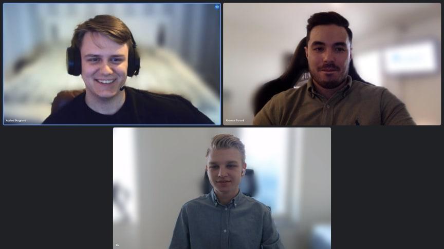 Förento-teamet består av Adrian Skoglund, Rasmus Forsell och Lukas Wiklund.