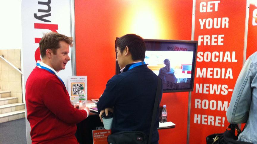 Mynewsdesk på Social Media World Forum i London