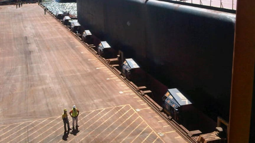 All secure: MoorMaster™ MM200B units at Utah Point berth, Port Hedland, Western Australia. #Cavotecfilm #mooring