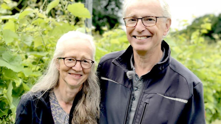 Nina och Niels Fink driver Vejrhøj vingård. Foto: Anna Lind Lewin.