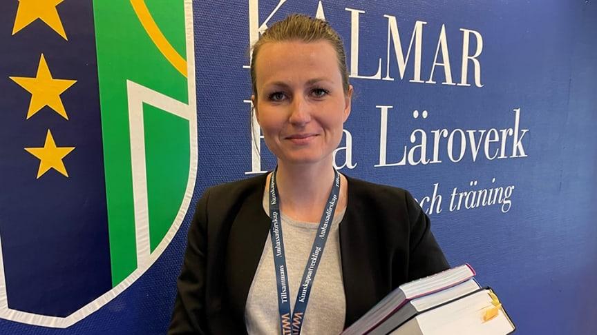 Caroline Falck, ny juridiklärare på Kalmar Fria Läroverk