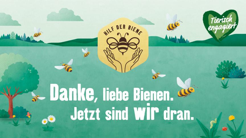 """Die Kampagne """"Hilf der Biene"""" der Fressnapf-Initiative """"Tierisch engagiert"""""""