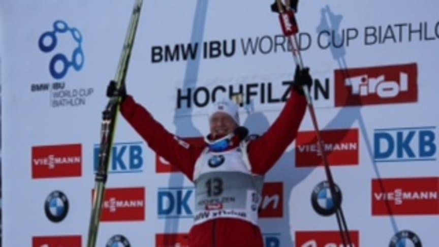 En fantastisk  norsk dag i Hochfilzen!