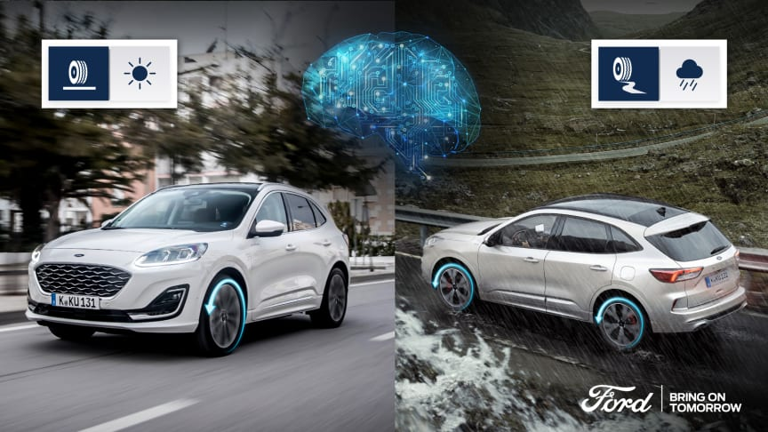 Nye Kuga med drivstoffbesparende firehjulstrekksystem med kunstig intelligens