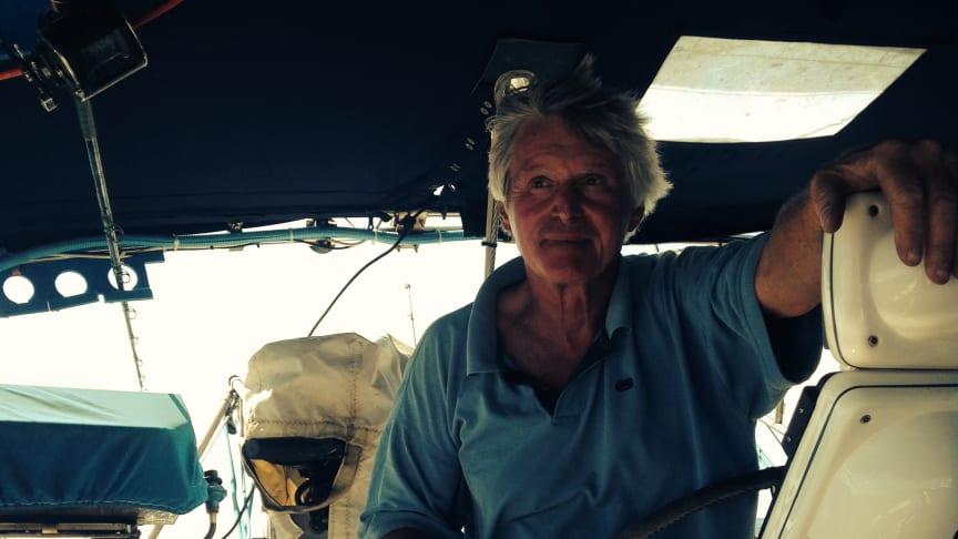 Barry Stedman on board his 50-foot Catalina sloop, 'Imagine'