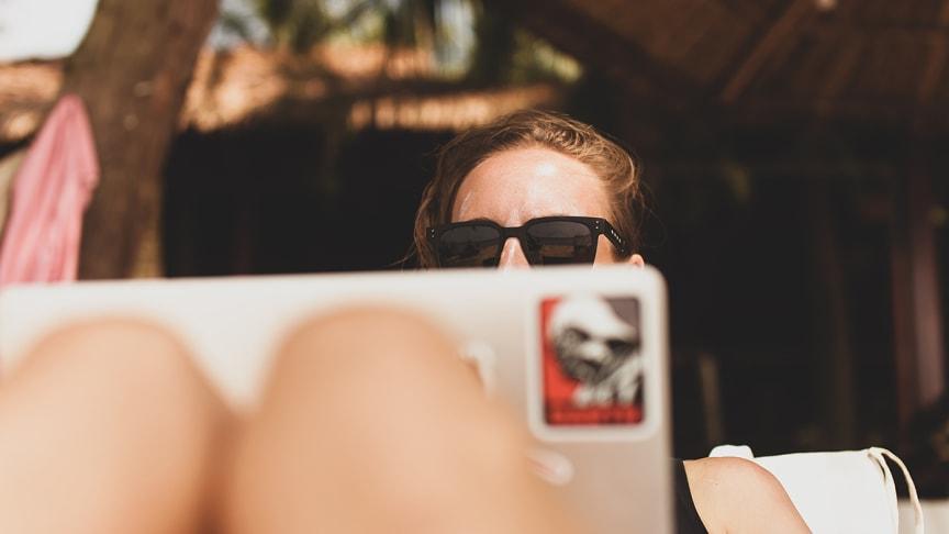 Småföretagare blir lugna av att jobba på semestern