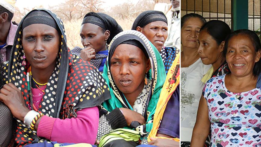 SMR:s medlemsorganisationer arbetar över hela världen. Att öka kvinnors deltagande är ett säkert sätt att skapa förändring i alla samhällen. Vi har bland annat träffat kvinnogrupper i Etiopien och Guatemala under uppföljningsresor 2017-2018.