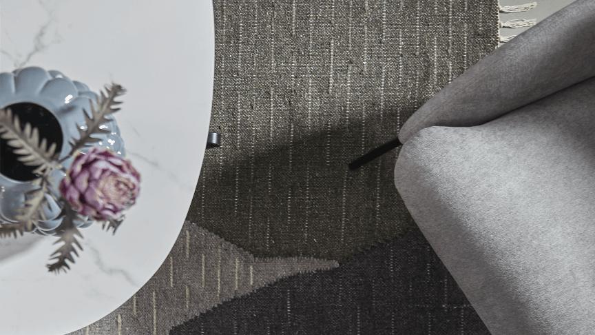 ILVAs efterårskollektion er på trapperne og byder blandt andet på nye tekstiler i genanvendt bomuld; heriblandt Rodea-tæppet på billedet.