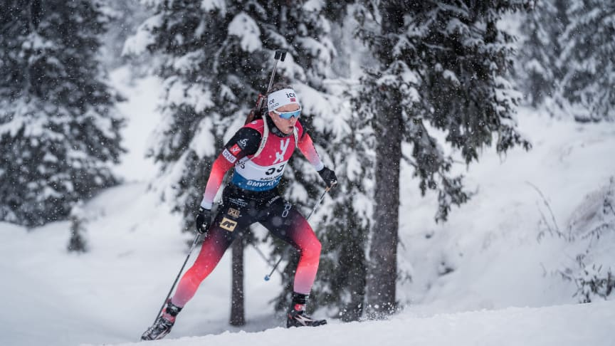 Jørgen Solhaug Sæter (Os IL) er en av juniorene som er klare for VM i Lenzerheide i Sveits. Foto: Sondre Eriksen Hensema/Norges Skiskytterforbund