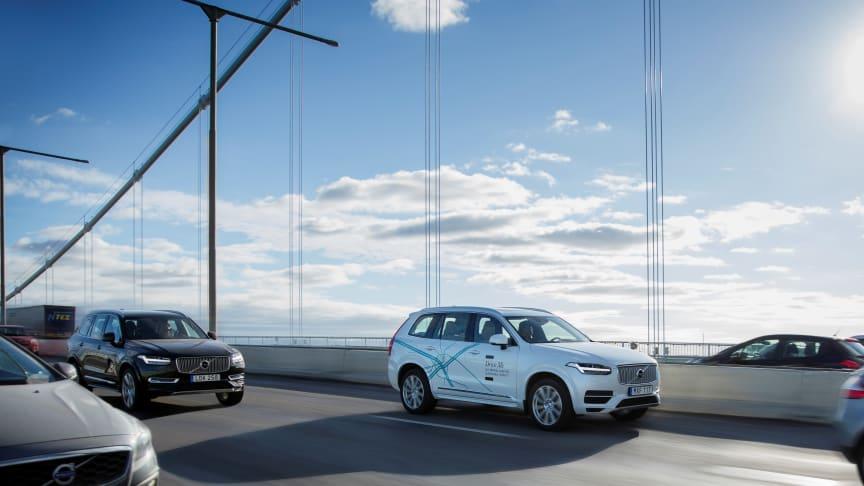 Volvo Cars och Autoliv går ihop med NVIDIA och utvecklar avancerade system för självkörande bilar