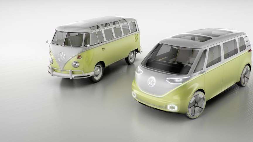 I.D. Buzz-konceptbilen har verdenspremiere på den internationale biludstilling i Detroit