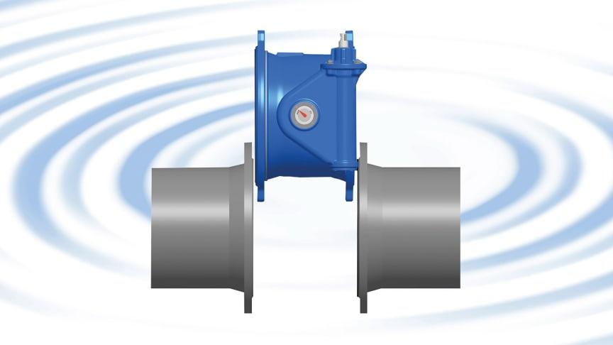 Ventil med justerbar lösfläns passar perfekt i alla rörinstallationer.