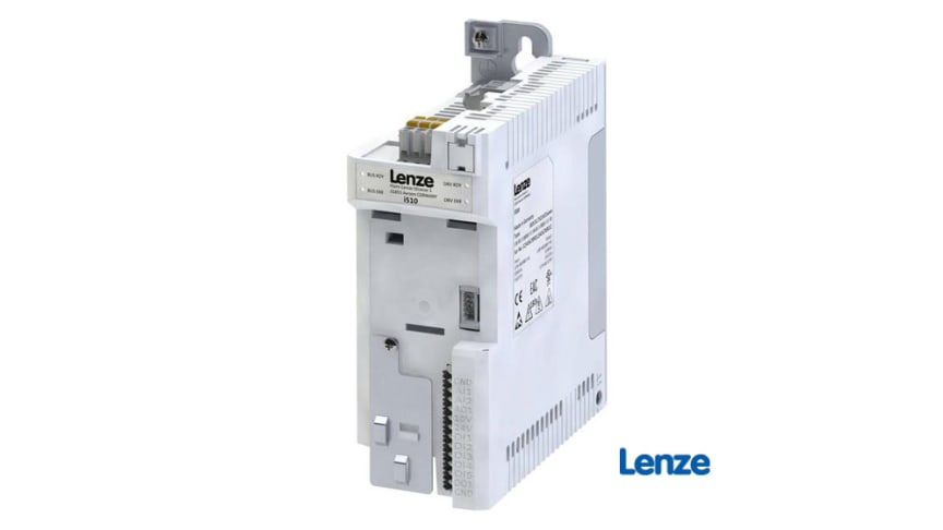 Den modulära designen av frekvensomformaren i510 från Lenze möjliggör olika produktkonfigurationer, utifrån vad respektive maskin kräver. Enheten är lämplig för användning inom områden som pump- och fläktteknik. Fotokälla: Lenze