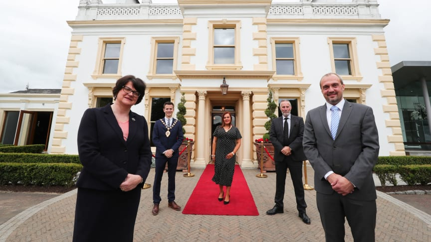 First Minister, Arlene Foster, visited  Galgorm Spa & Golf Resort to see first-hand the new additions to the award-winning Thermal Village & Spa along with the Resort's enhanced safety measures ahead of reopening this Friday 24 July