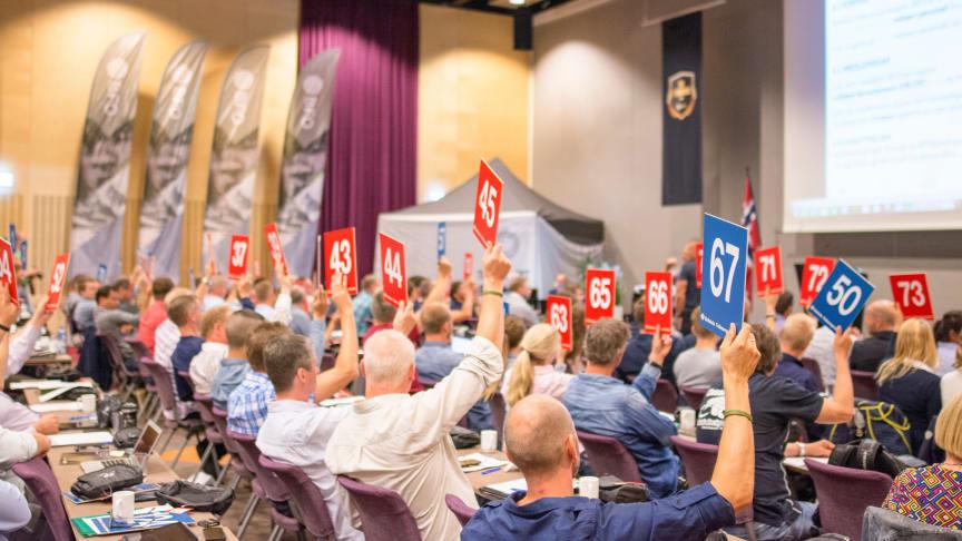 Der stemmes på kongress. Foto: Lars-Andreas Irgens, BFO
