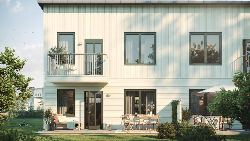 Säljsuccé och klart för byggstart av Riksbyggens Radhusblicken i Gamla Uppsala