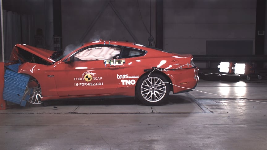 Ford Mustang receives first Two Star Euro NCAP rating given to a top 10 car brand since 2008