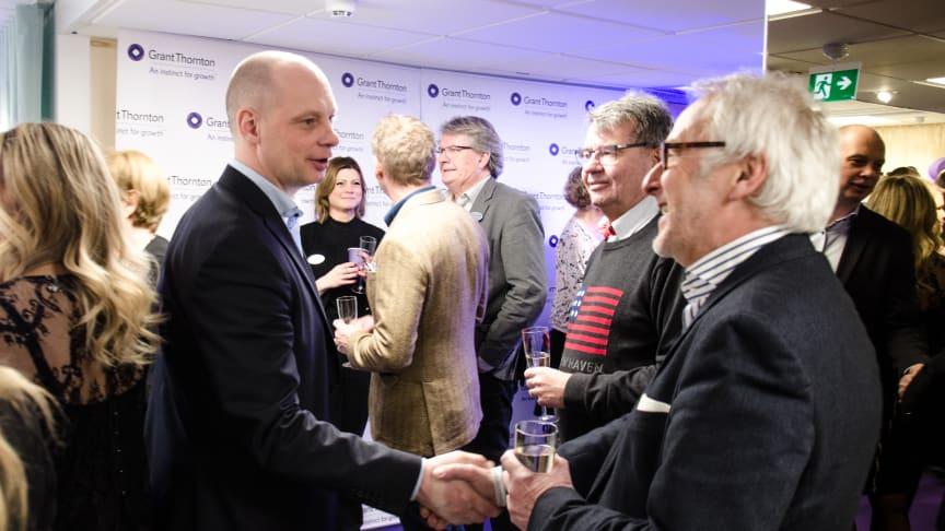 Över 100 kunder var på plats när det nyrenoverade kontoret mitt i Eskilstuna invigdes.