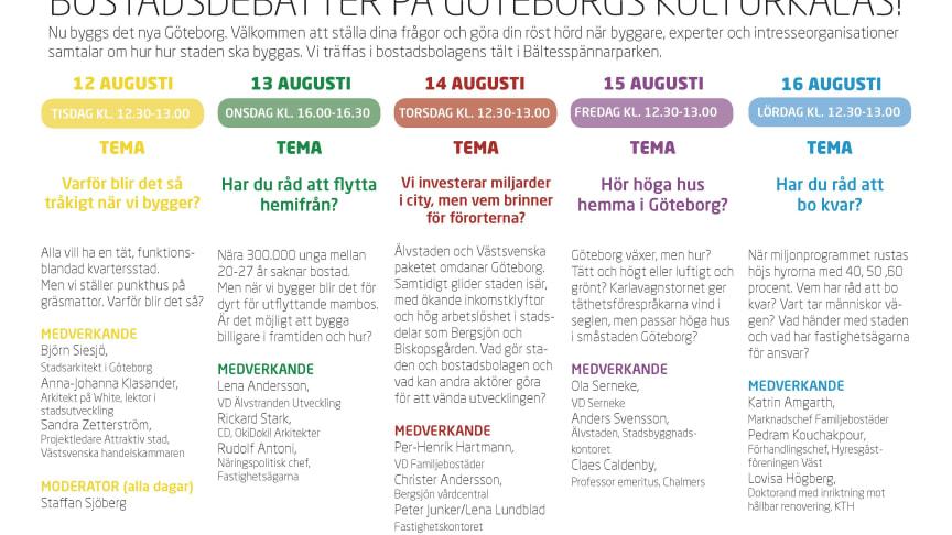 Bostadsdebatter i Bältesspännarparken under Kulturkalaset