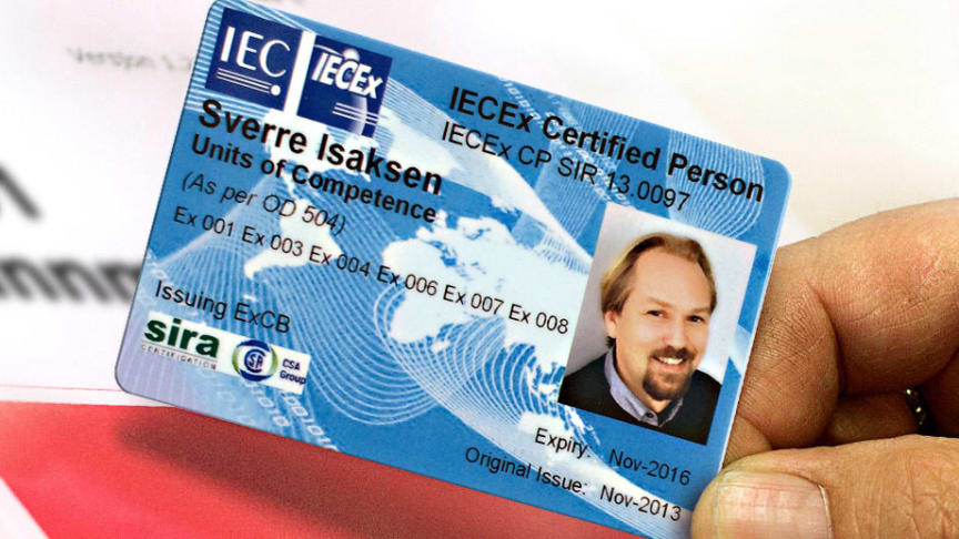 International Certificate as proof of competence. Photo: Trainor AS