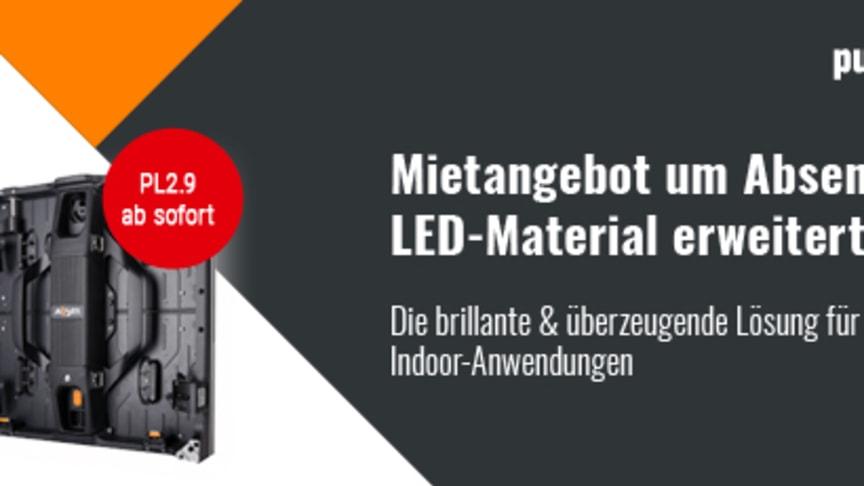 Mietangebot um Absen Polaris LED-Material erweitert