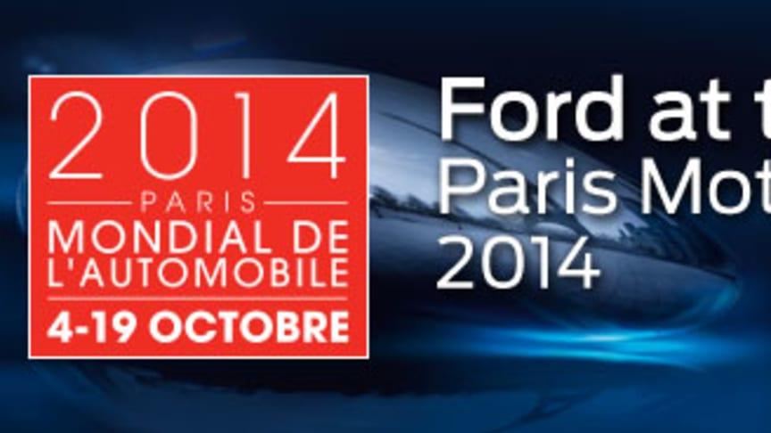 Helt nya S-MAX, nya C-MAX och Ford Mustang – ett axplock av Fords starka modellprogram på bilmässan i Paris