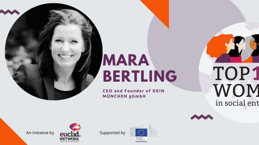DEIN MÜNCHEN-Gründerin und Geschäftsführerin Mara Bertling wurde unter die Top 100 Women in Social Enterprise des Euclid Networks gewählt