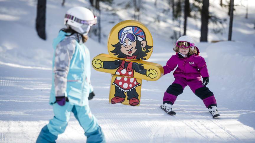 I Kläppen har børnene det sjovt på Trollslope. Foto: Daniel Bernstål