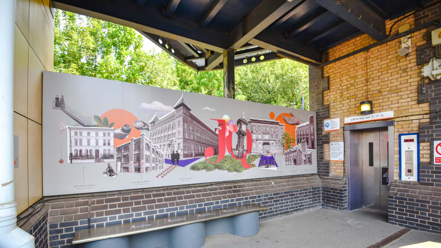 Spectacular mural unveiled at Jewellery Quarter station