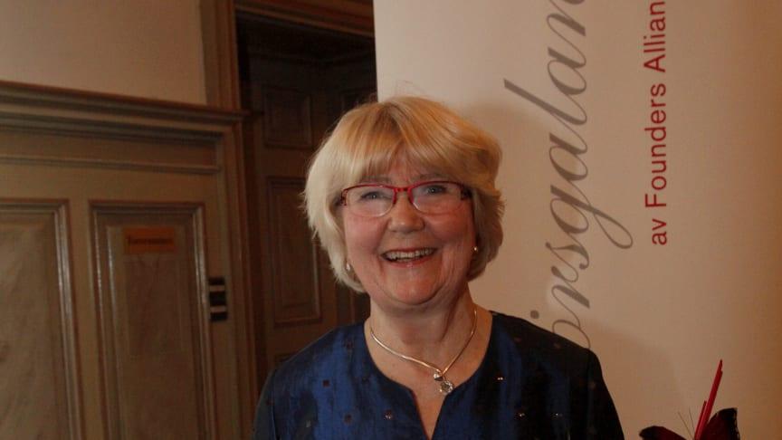 Margareta Jonsson från Polarbröd tilldelades utmärkelsen Årets Förebildsentreprenör på Entreprenörsgalan Norr