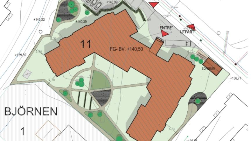 Skissbild över kommande byggnation i Filipstad.
