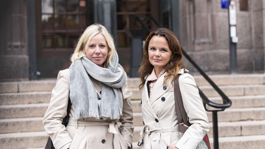 Madeleine Sundell, jurist och nationell samordnare mot människohandel för Frälsningsarmén i Europa besöker EU-parlamentet tillsammans med Silvia Ingolfsdottir Åkermark, advokat på Brottsbyrån.