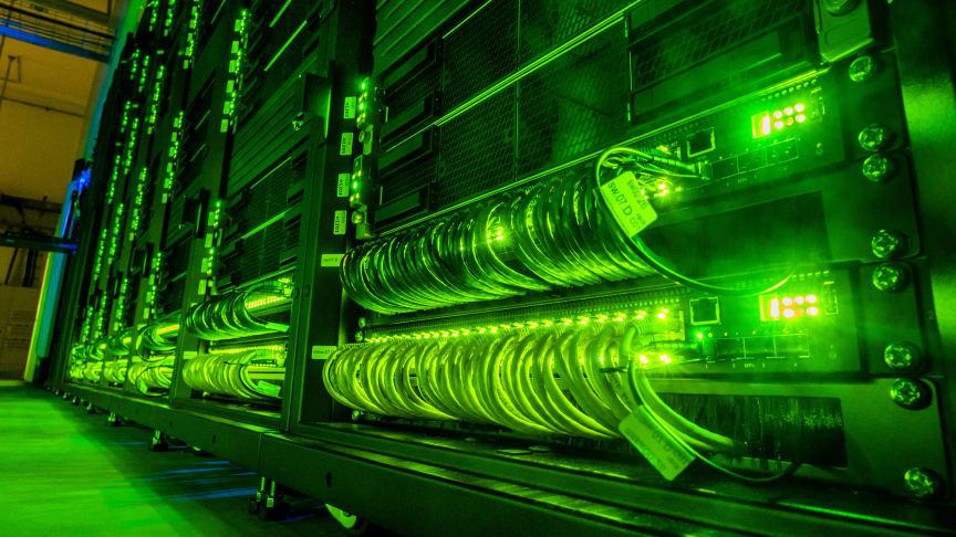 Superdatorn Tetralith vid Nationellt Superdatorcentrum, NSC. Foto Thor Balkhed.
