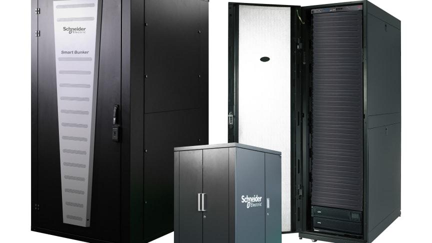 Det færdigbyggede mikrodatacenter Smart Bunker fra Schneider Electric bygger bro mellem cloud og edge computing og indeholder både racks, køling, PDU og UPS.