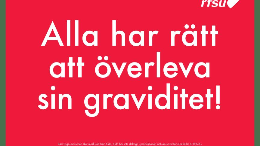 Stort svenskt engagemang i Barnvagnsmarschen mot mödradödlighet