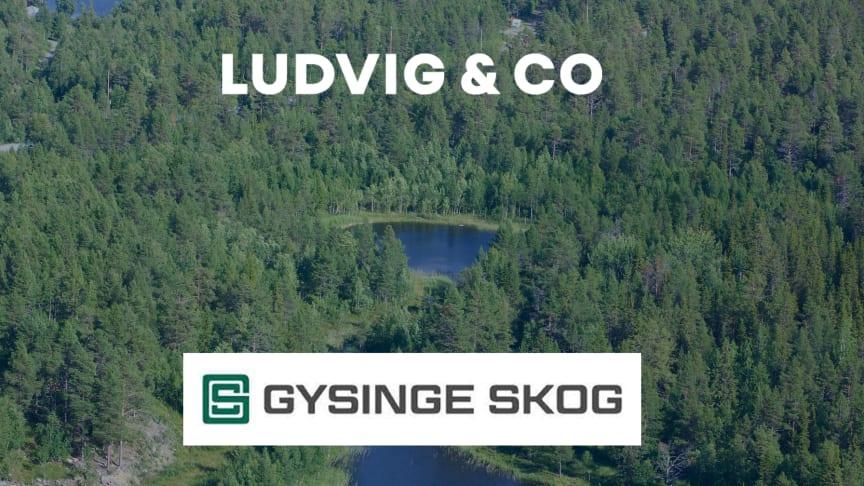 Ludvig & Co har fått förtroendet av Gysinge Skog AB att ansvara för försäljningen av ett skogsinnehav med bolagsskog i Halland.