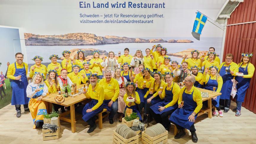 Alla svenska utställare och värdar vid Grüne Woche 2020. Foto: Bernhard Ludewig