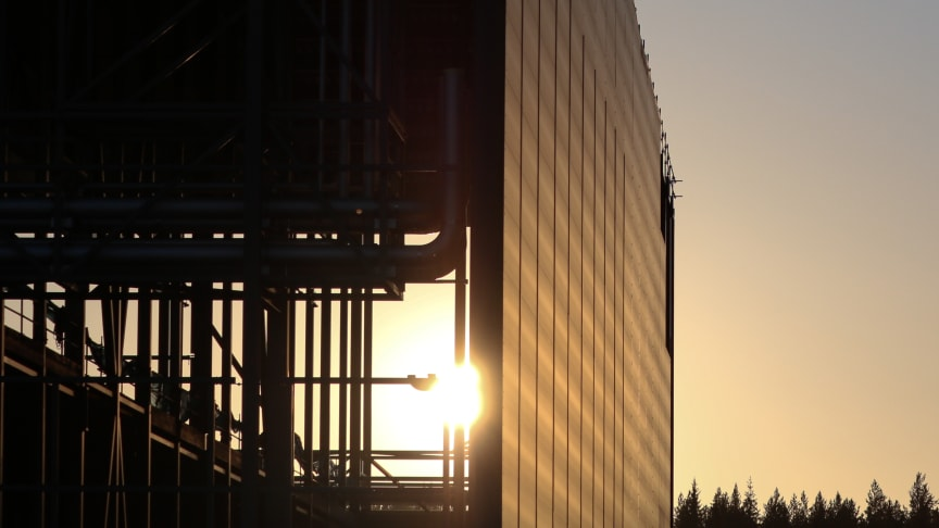 The Northvolt Ett gigafactory in Skellefteå, Sweden, currently under construction.