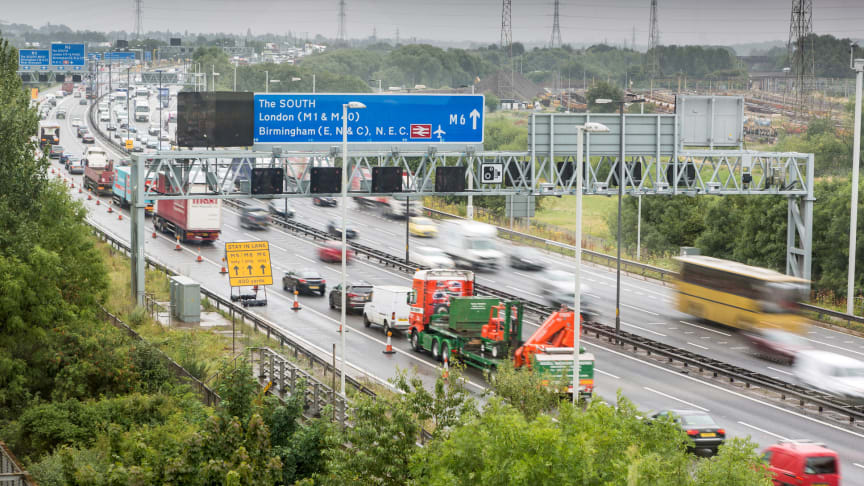 View of motorway traffic from RAC Bescot