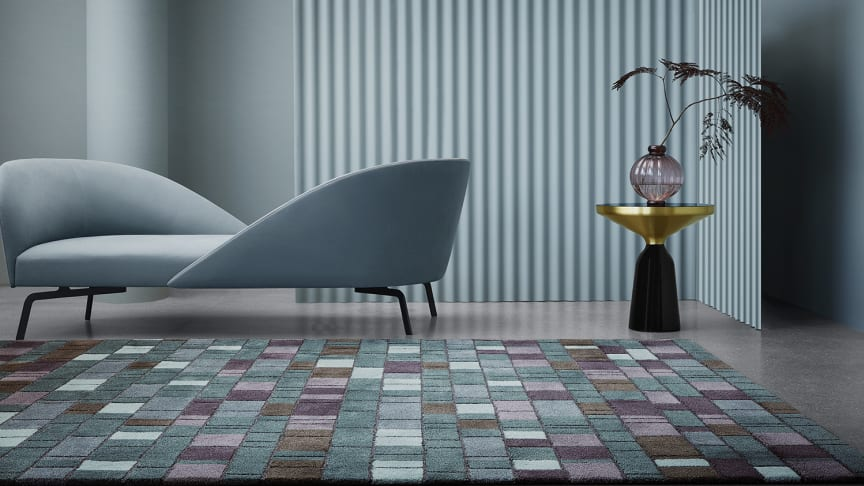 Palette, an elegant, hand-tufted wool rug by Maja Johnsson Starander, conjures thoughts of an artist at work.