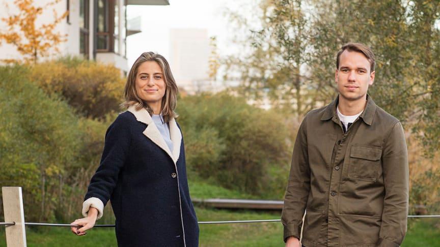Mikaela Svefors och Joacim Gustafsson, grundare till Avy