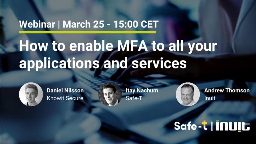 Vi visar hur du kan aktivera MFA för alla dina applikationer och tjänster