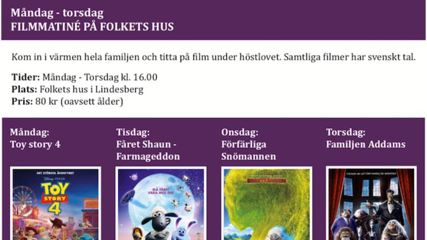Programmet klart för höstlovet i Lindesberg